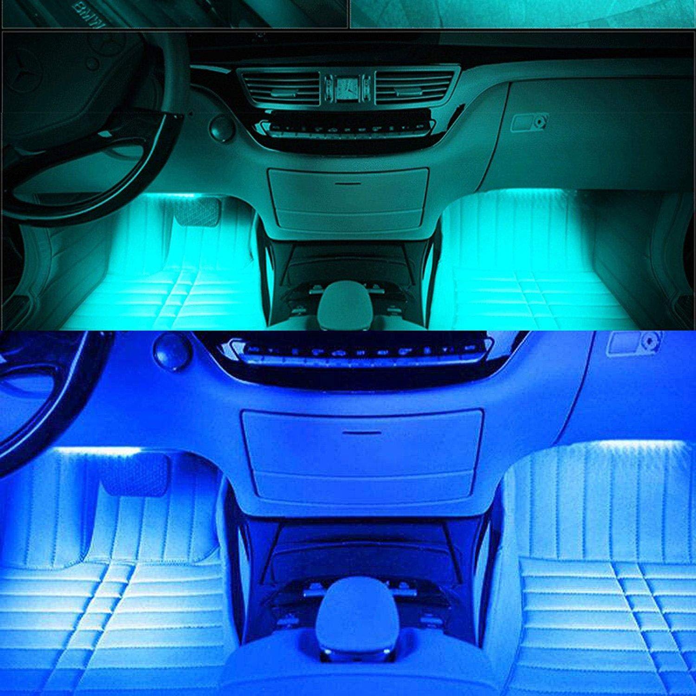 12V RGB LED Strip Light Atmosphere Decoration Lamp Car Interior Light with Remote Control
