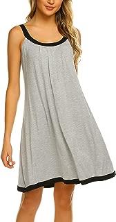 Wide Strap Chemise Full Slip Nightgowns Women Sleeveless Sleepwear Plain Dress