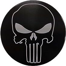 "product image for HMC Billet Punisher Aluminum 4"" Laser Engraved Trailer Hitch Cover"