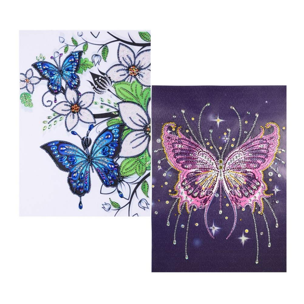 Amaping DIY 5D Diamond Painting by Number Kits Crystal Rhinestone Beads Pasted Embroidery Cross Stitch Kits Embellishment Arts Craft for Home Wall Hanging Decor Special Flower