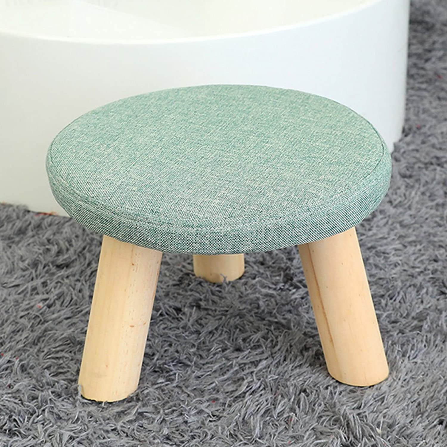 July Stool Footstool shoes Stools Wood Ideas shoes Stools Sofa Stools Small Stool Benches Creative Stools (color   A)