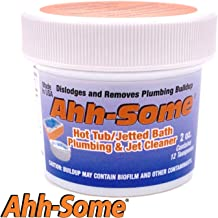 Ahh-Some- Hot Tub Cleaner | Clean Pipes & Jets Gunk Build Up | Clear & Soften Water For Jacuzzi, Jetted Tub, or Swim Spa | Top Water Clarifier (2oz.)