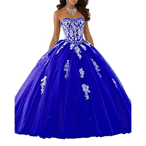 Royal Blue Sweet 16 Dresses