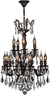Worldwide Lighting Versailles Collection 15 Light Flemish Brass Finish and Clear Crystal Chandelier 21