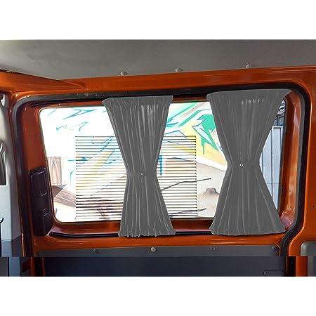 T5 Und T6 Transporter Kurzer Radstand Maß Gardinen Vorhänge Sonnenschutz Mit Heckklappe Farbe Grau Baby