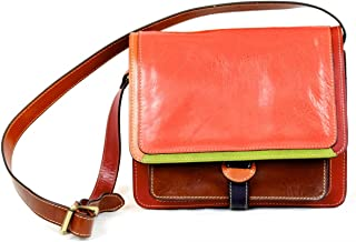 Borsa Tracolla Donna Colore Multicolor - Pelletteria Toscana Made In Italy - Linea Prestige