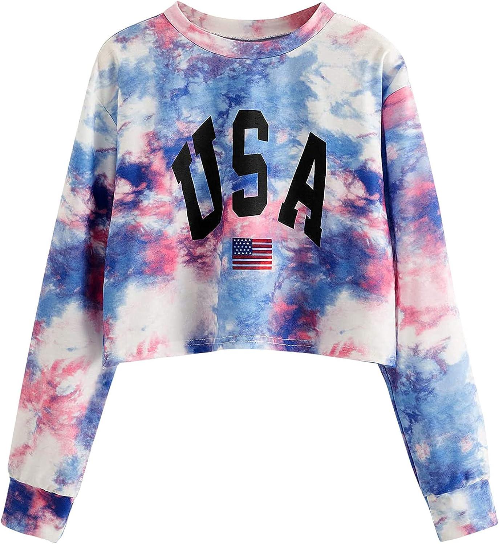 UOCUFY Hoodies for Women, Womens Pullover Sweatshirt Casual Long Sleeve Letter Print Hoodie Loose Drawstring Crop Tops