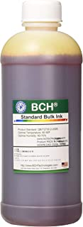 BCH Standard Bulk Yellow Refill Ink 500 ml (16.9 oz) for HP Printers