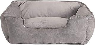 Dibea Cama Perros 2 en 1 cojín Perros sofá Perros (S) 60 x 50 cm Gris
