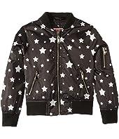 Luna Sateen Star Print Bomber Jacket (Little Kids/Big Kids)