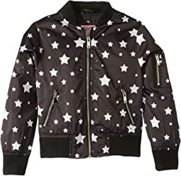 Luna Sateen Star Print Bomber Jacket (Little Kids/Big Kids)