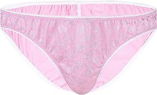FEESHOW Sexy Sissy Pouch Panties Men's Stretch Polka Dots Bikini Briefs