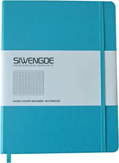 SIWENGDE X-Large B5 Squared Journal Grid Notebook 160pages x 100gsm Premium Chequered Graph Paper (Teal,19x25cm)