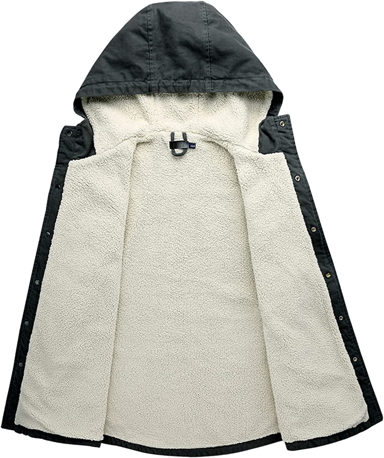 Winter Coat for Mens Big and Tall, Warm Cashmere Thicken Pockets Cotton Outwear Breathable Windproof Sports Jackets