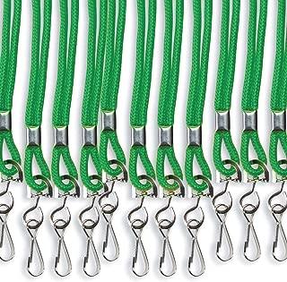 S&S Worldwide Breakaway Lanyards with Swivel Hook Green (Pack of 12)