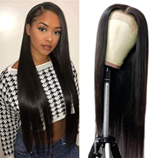 Straight 4X4 Lace Closure Human Hair Wigs 100% Unprocessed Brazilian Virgin Straight Hair 130% Density Lace Closure Wig For Women(22