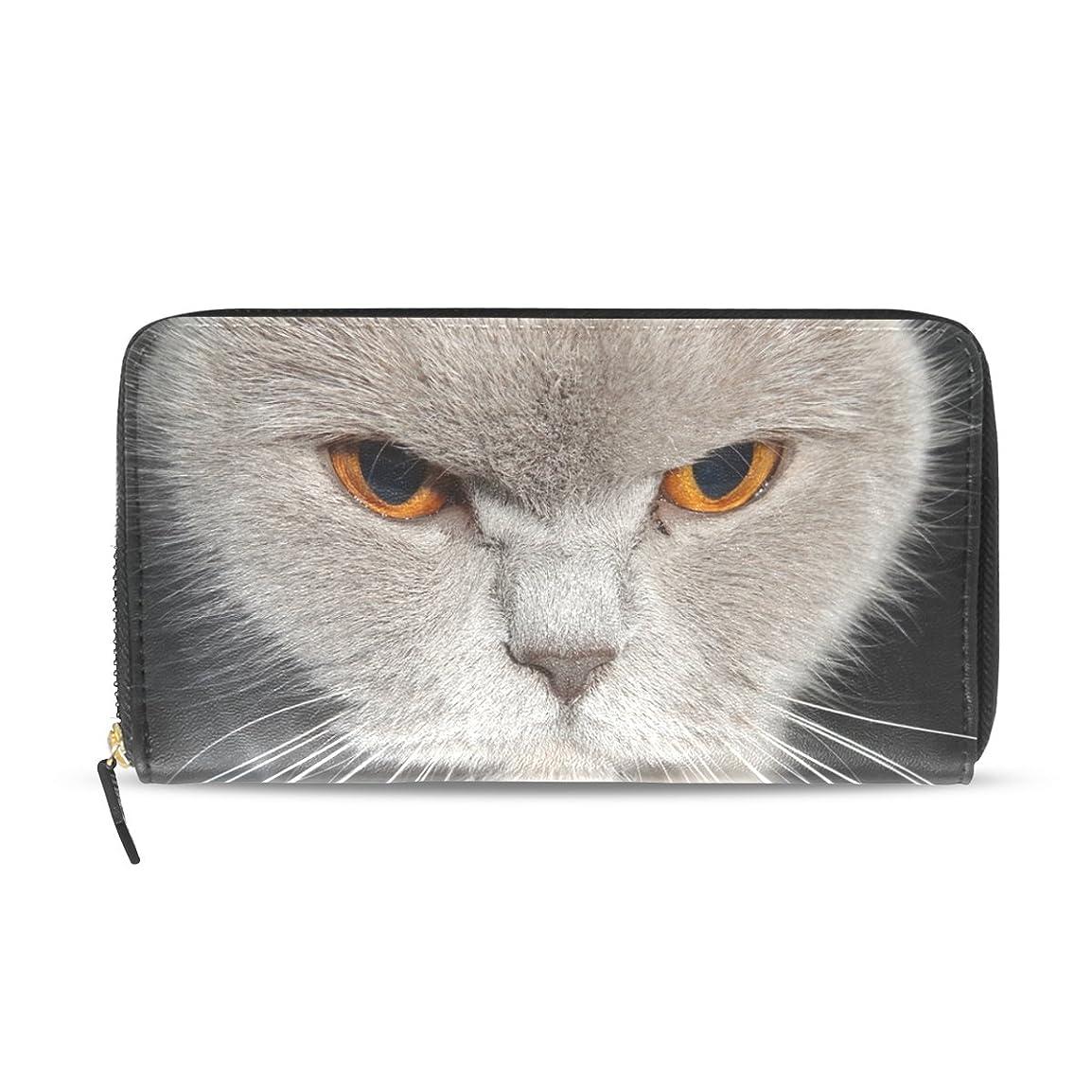 適用する音楽を聴くパズルマキク(MAKIKU) 長財布 レディース 大容量 革 レザー ラウンドファスナー おしゃれ カード12枚収納 プレゼント対応 かわいい 猫 猫柄