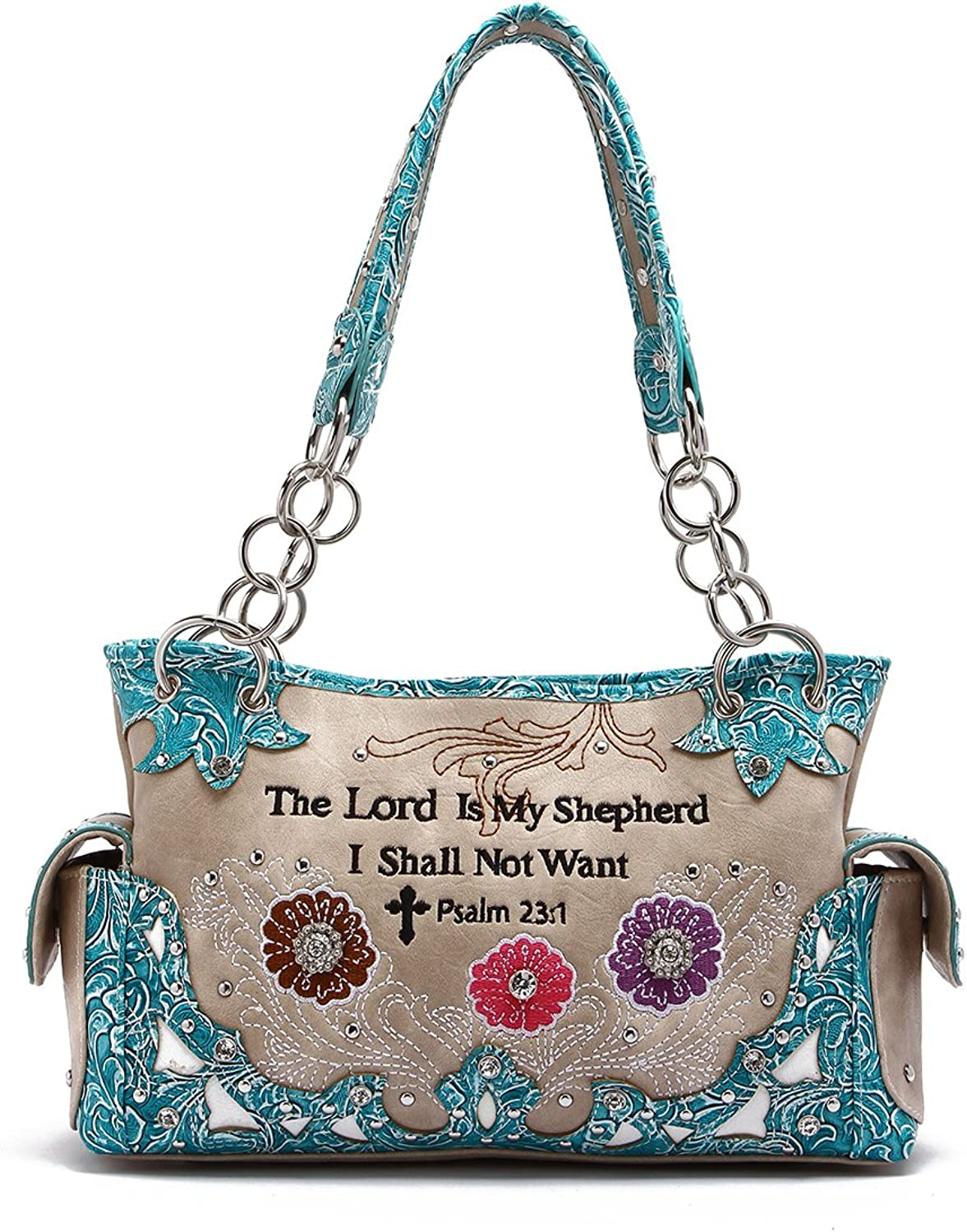 Western Handbag  Bible Verse The Lord is My Shepard Psalm 23 1 Concealed Carry Shoulder Bag