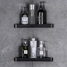 Badkamer glazen plank, aan de muur gemonteerd punch-vrij glazen hoekframe voor badkamer toilet kaptafel keuken driehoek op...