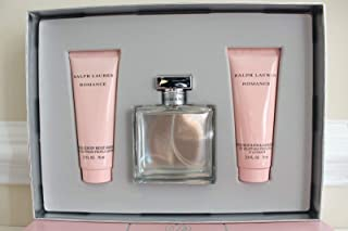 Romance Ralph Lauren Women 3pc Set: 3.4 oz Eau de Parfum Spray + Sensuous Body Moisturizer Lotion + Sensuous Bath & Shower Gel