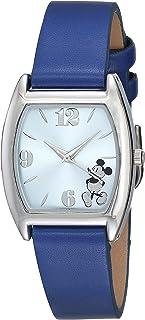 Disney Unisex MK1043 Mickey Mouse Light Blue Sunray Navy Strap Watch