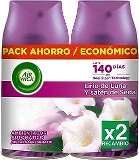comprar comparacion Air Wick Ambientador Freshmatic Recambio Duplo Lirio de Luna y Satén de Seda - 500 ml
