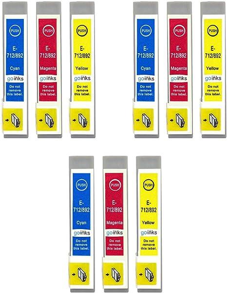 Go Inks E 715cmy Kompatibler Satz Mit 3 C M Y Tintenpatronen Als Ersatz Für Epson T0712 T0713 T0714 Zur Verwendung Mit Epson Stylus Druckern 12 Stück Bürobedarf Schreibwaren