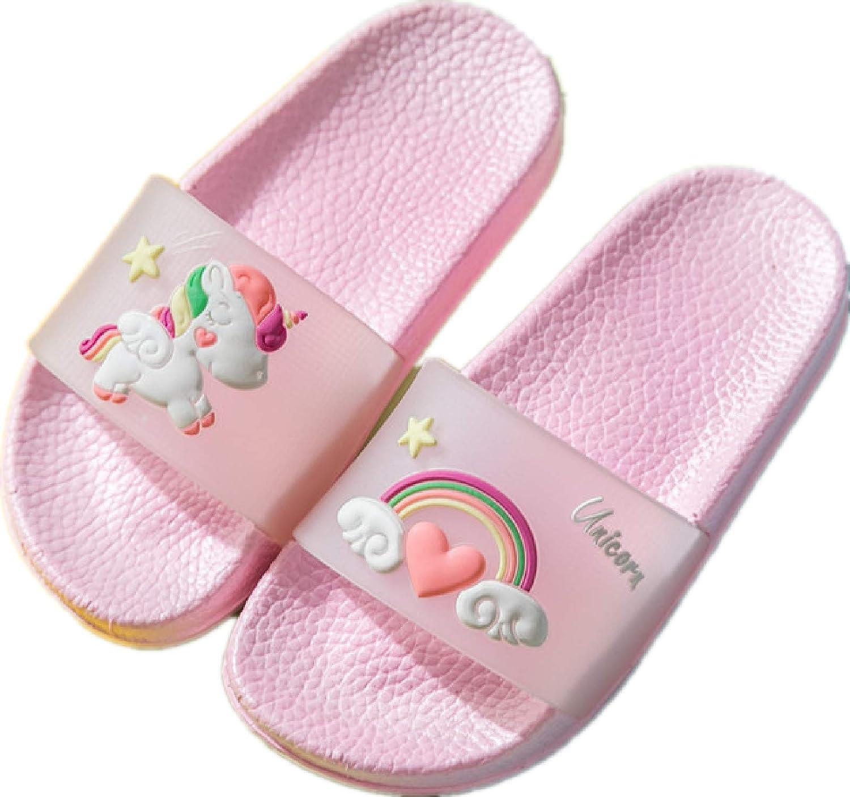 Popular brand CCXSSH Kids Household Sandals Max 41% OFF Summer Cartoon Horse Rainbow Cute