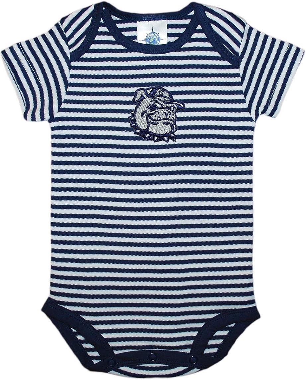 Creative Knitwear Georgetown University Bulldog Baby Striped Bodysuit