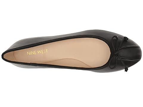 Batoka Nine plana negro de cuero West Bailarina wPqHnZx7Z