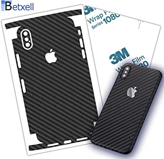 Betxell Skin for iPhone SE 2020 Carbon Fiber 3M 1080 Film Protective wrap Around Edges Corners and Back for iPhone SE2 with 3D Texture (iPhone SE 2020)