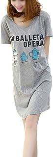 FAKEFACE レディースパジャマ半袖綿 部屋着レディースかわいいルームウェアレテ?ィース夏 ネグリジェお洒落女性 ナイトワンピースレディース 寝巻き アルファベット カジュアル ナイトウェア