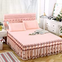 Lace Mattress Cover,Lotus Leaf Lace Mattress Protective Case Soft and Skin-Friendly Double Single Available in All Seasons
