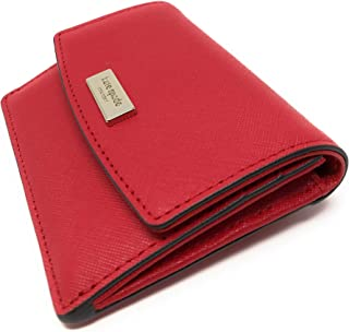 Kate Spade New York Petty Saffiano Leather Key Chain Id Wallet Red