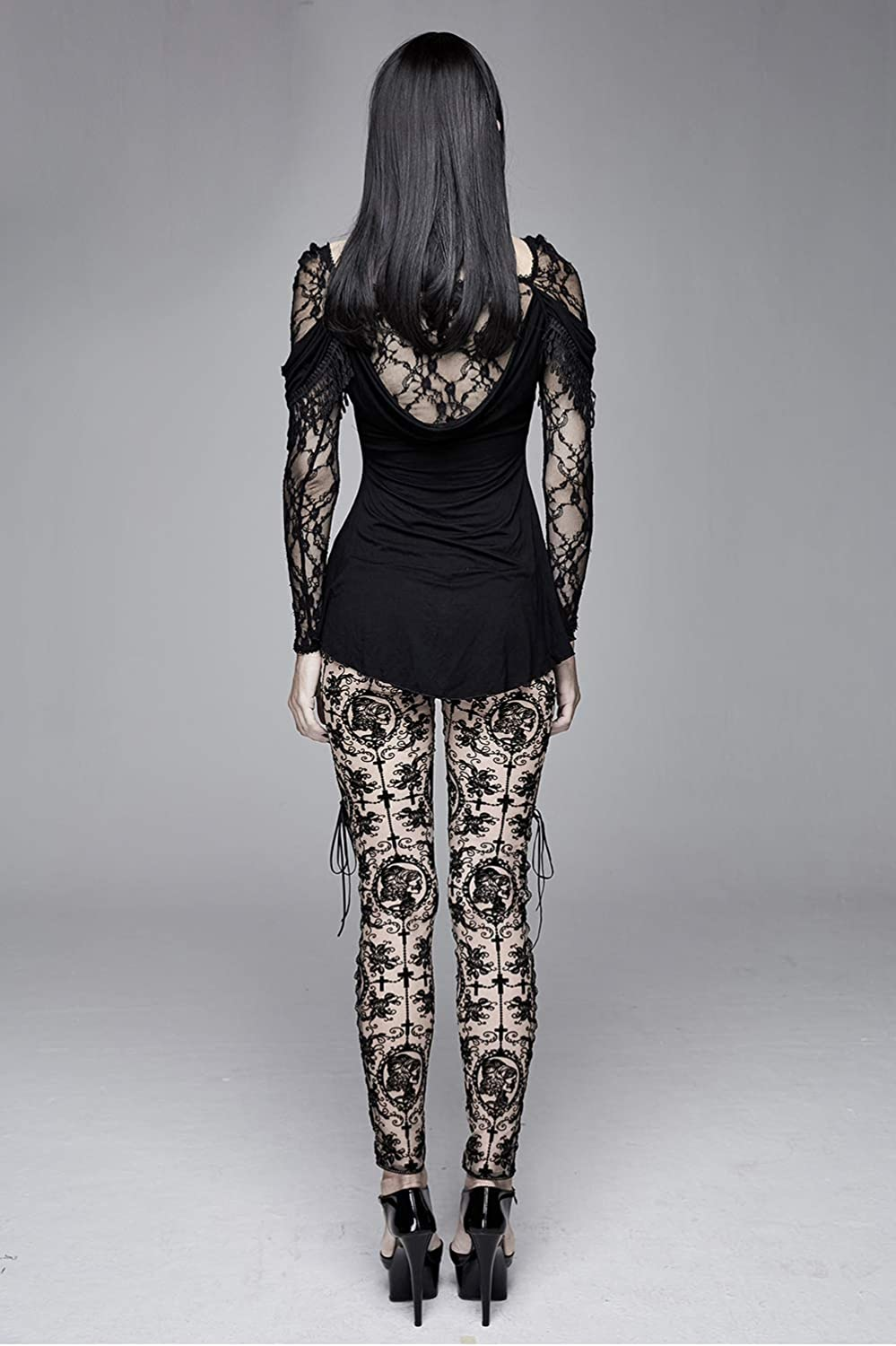 Devil Fashion Leggings for Women Stockings Stretchy High Tights Pantyhose Sexy Suspender Lace Patterned