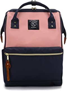 Mochila Portatil Compartimiento para Laptop Antirrobo Impermeable Universidad Mujer Hombre (Rosa Marina, Grande)