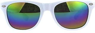 Kids Mirrored Lens Classic Retro Plastic Horn Rim Hipster...