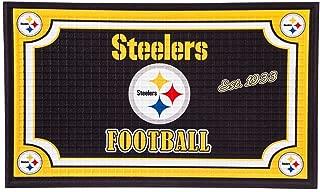 Team Sports America 41EM3824 Pittsburgh Steelers Embossed Door Mat