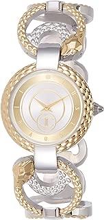 Just Cavalli Womens Quartz Watch, Analog-Digital Display and Stainless Steel Strap, JC1L074M0055