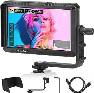 TARION X5 カメラモニター 撮影モニター5インチIPS 1920*1080 400cd/m2 4K HDMI入出力 パススルー FHD 超軽量 外部モニター スタビライザー撮影確認用 携帯便利 各種カメラに適用 一眼レフ、デジカメ カメ...
