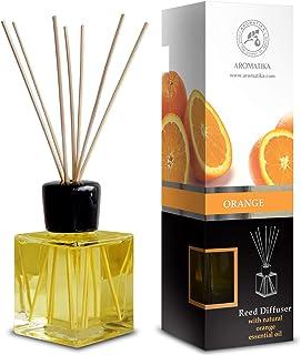 Difusor de Caña Naranja 200ml con 8 Palos de Bambú -