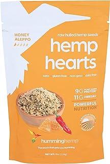 Humming Hemp Honey Aleppo Hemp Hearts - Shelled Hemp Seeds - Healthy Protein Snacks - 9g Plant Protein - Non-GMO, Gluten-F...