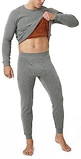 LAPASA Men's Ultra Warm Thermal Long johns Set Double Layer Fleece Lined Base Layer Underwear Top & Bottom (Fusion M63)