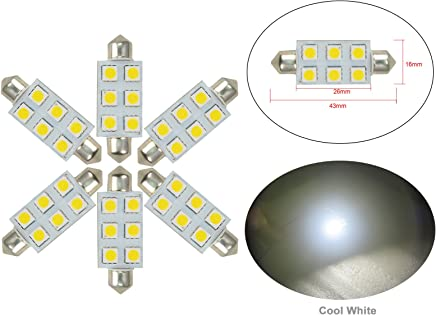 25/ V blanc LED 5050/ 211/ Blanc chaud 2800/ ~ 3500/ K carte int/érieur ampoules DC 8 Njytouch 6/ pcs Feston 36/ mm