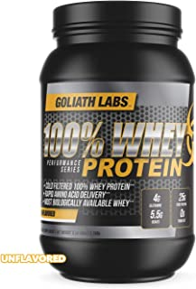 ⧫ 100% Whey Protein Powder 10 lb by Goliath Labs (Unflavored)