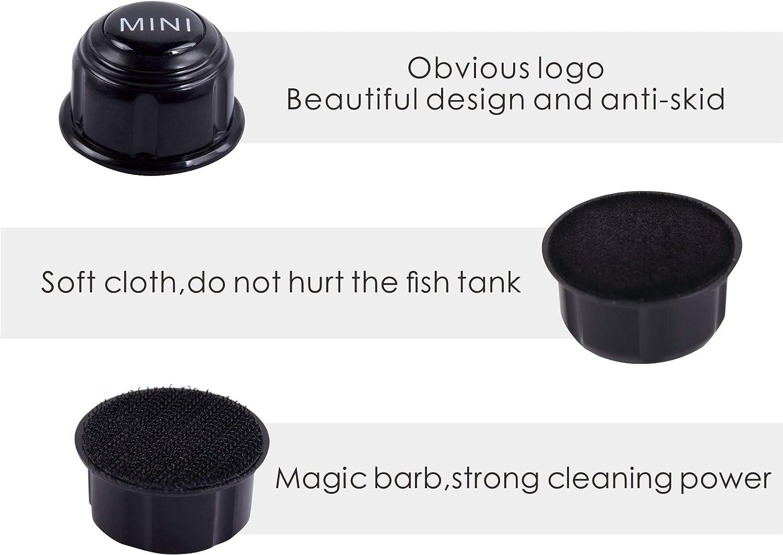 Carefree Fish Mini Algae ScrapersSuper MagneticBrush,Small Fish Tank Glass Aquarium Cleaner Black