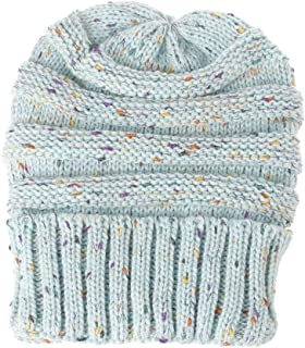 Multicolor Women's Winter Knitting Wool Warm Hat Daily Slouchy Hats Hats & Caps (Color : Light blue)