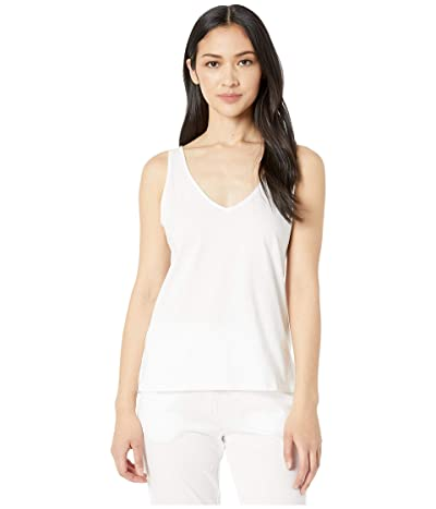 Skin Natural Skin Jaclyn Organic Cotton V-Neck Tank (White) Women