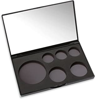 Magnetic Makeup Caddy - Empty Makeup Organizer Palette With Mirror - Configurable for Any Pan Plus Metal Stickers