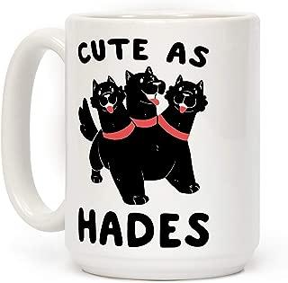 LookHUMAN Cute as Hades - Cerberus White 15 Ounce Ceramic Coffee Mug